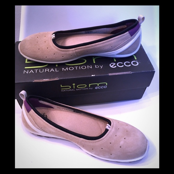 top quality attractive price offer discounts ecco Biom Lite Beige Ballerina Flats Sz 39 8-8.5